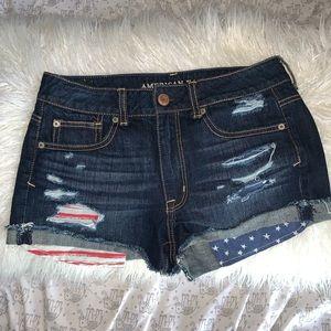 USA jean shorts (AMERICAN EAGLE)